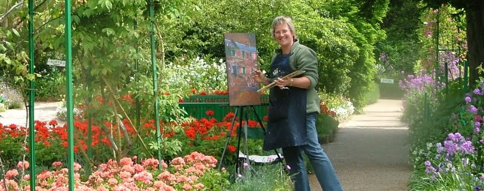 Dana Jackson Painting in Monet's Garden